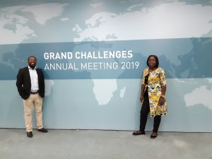 Sergine Ngatat and Tendekai Mahlanza at The Grand Challenges Meeting, Ethiopia, 2019